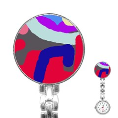 Crazy abstraction Stainless Steel Nurses Watch