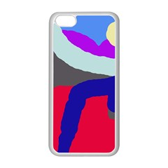 Crazy abstraction Apple iPhone 5C Seamless Case (White)
