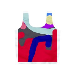 Crazy abstraction Full Print Recycle Bags (S)