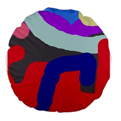 Crazy abstraction Large 18  Premium Flano Round Cushions
