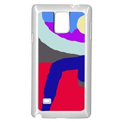 Crazy abstraction Samsung Galaxy Note 4 Case (White)