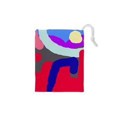 Crazy abstraction Drawstring Pouches (XS)