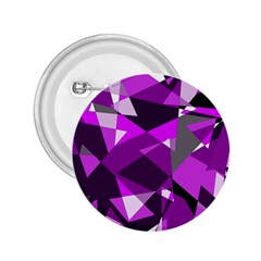Purple broken glass 2.25  Buttons