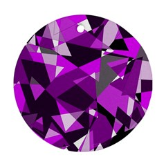 Purple broken glass Ornament (Round)