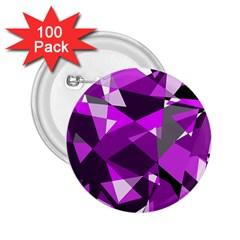 Purple broken glass 2.25  Buttons (100 pack)