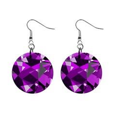 Purple broken glass Mini Button Earrings