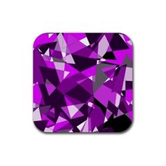 Purple broken glass Rubber Coaster (Square)