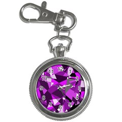 Purple broken glass Key Chain Watches