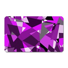 Purple broken glass Magnet (Rectangular)