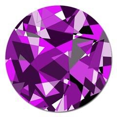 Purple broken glass Magnet 5  (Round)