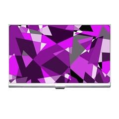 Purple broken glass Business Card Holders