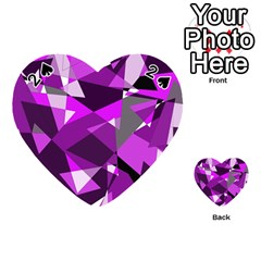 Purple broken glass Playing Cards 54 (Heart)