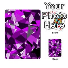 Purple broken glass Multi-purpose Cards (Rectangle)