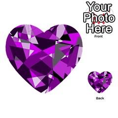 Purple broken glass Multi-purpose Cards (Heart)
