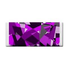 Purple broken glass Hand Towel