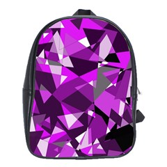 Purple broken glass School Bags(Large)