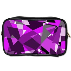 Purple broken glass Toiletries Bags 2-Side