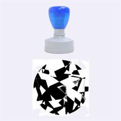 Purple broken glass Rubber Round Stamps (Medium)