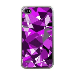 Purple broken glass Apple iPhone 4 Case (Clear)