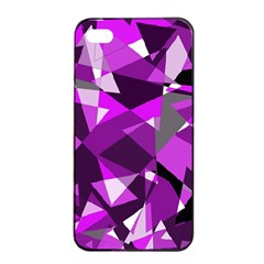 Purple broken glass Apple iPhone 4/4s Seamless Case (Black)
