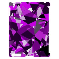 Purple broken glass Apple iPad 2 Hardshell Case (Compatible with Smart Cover)