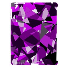Purple broken glass Apple iPad 3/4 Hardshell Case (Compatible with Smart Cover)