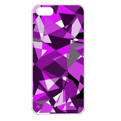 Purple broken glass Apple iPhone 5 Seamless Case (White)