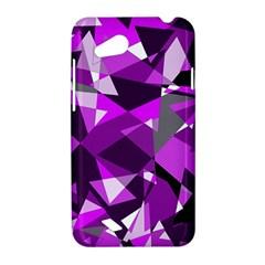 Purple broken glass HTC Desire VC (T328D) Hardshell Case