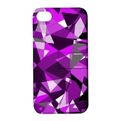 Purple broken glass Apple iPhone 4/4S Hardshell Case with Stand
