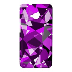 Purple broken glass HTC One M7 Hardshell Case
