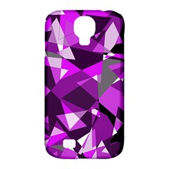 Purple broken glass Samsung Galaxy S4 Classic Hardshell Case (PC+Silicone)