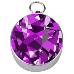 Purple broken glass Silver Compasses