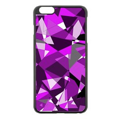Purple broken glass Apple iPhone 6 Plus/6S Plus Black Enamel Case