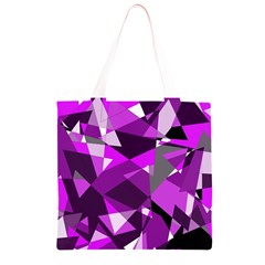 Purple broken glass Grocery Light Tote Bag