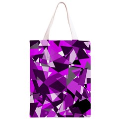 Purple broken glass Classic Light Tote Bag