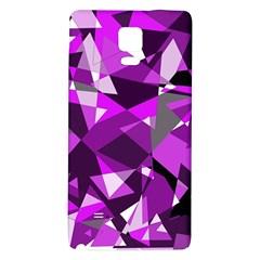 Purple broken glass Galaxy Note 4 Back Case