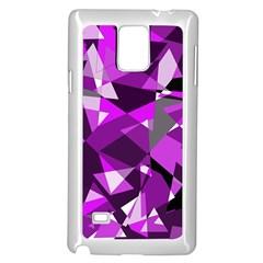 Purple broken glass Samsung Galaxy Note 4 Case (White)