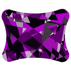 Purple broken glass Jigsaw Puzzle Photo Stand (Bow)
