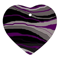 Purple and gray decorative design Ornament (Heart)