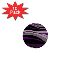 Purple and gray decorative design 1  Mini Buttons (10 pack)