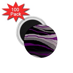 Purple and gray decorative design 1.75  Magnets (100 pack)