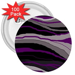 Purple and gray decorative design 3  Buttons (100 pack)