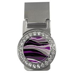 Purple and gray decorative design Money Clips (CZ)