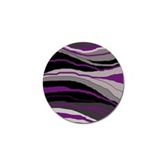 Purple and gray decorative design Golf Ball Marker (10 pack)