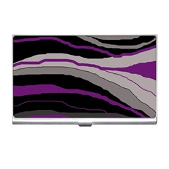 Purple and gray decorative design Business Card Holders