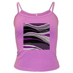 Purple and gray decorative design Dark Spaghetti Tank