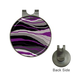 Purple and gray decorative design Hat Clips with Golf Markers