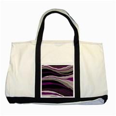 Purple and gray decorative design Two Tone Tote Bag