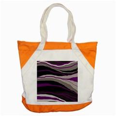 Purple and gray decorative design Accent Tote Bag