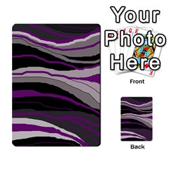 Purple and gray decorative design Multi-purpose Cards (Rectangle)